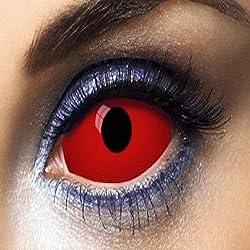 Aec le50004blandas Sclera Lens 0041duración 1an, rojo