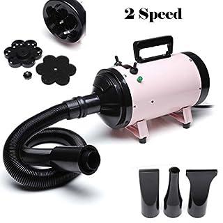 AutoFu 500W Dog Cat Pet Grooming Hair Dryer Hairdryer Blaster Low Noise Blower Heater Pet Bathing Accessories 2 Wind Speed