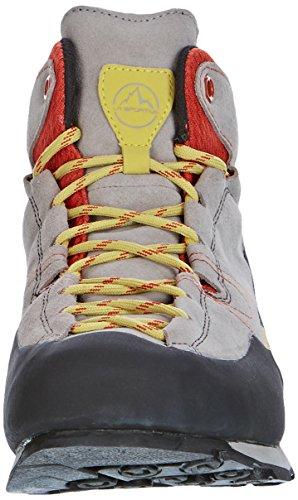 La Sportiva Boulder X Mid GTX–Grey/Red–EU/UK/US M/US W–Solide léger Approach de chaussures grey-red
