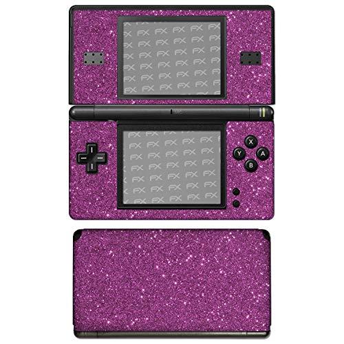 """atFoliX Nintendo DS-Lite Skin \""""FX-Glitter-Rich-Lilac\"""" Designfolie Sticker - Reflektierende Glitzerfolie"""
