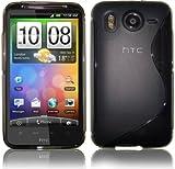 SKS Distribution® Premium S-Line Slim Hydro Gel Skin Case Cover For HTC Desire HD - Black