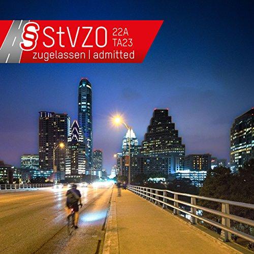 ANSMANN LiteRider StVZO Fahrradlicht Beleuchtungsset/Fahrradlampen/Hochwertiges LED Lichtzubehör für Fahrrad oder Mountainbike mit Vorder- & Rücklicht & 2 Halterungen/Spritzwasserfest - 3
