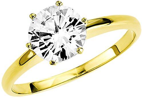 Amor - anello in oro giallo con zirconia, donna, bianco, 14