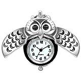 JewelryWe Niedlich Eule Taschenuhr Analog Quarz Kettenuhr Uhr Anhänger...