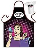 Kochschürze mit Mini Shirt: Schatz! Kann später werden... Frau mit Kreditkarte - Grillschürze, Schürze - Geschenk zum Geburtstag