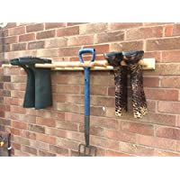 welly rack for 6 pairs treated with danish oil