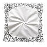 MyButterflyBasket Vine Flower Wedding Embroidery Crotchet Lace Handkerchiefs for Bride and Ladies