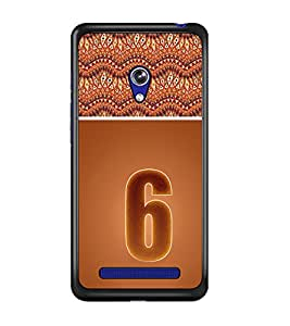 PrintDhaba Numerology Number 6 D-3638 Back Case Cover for ASUS ZENFONE 5 A501CG (Multi-Coloured)