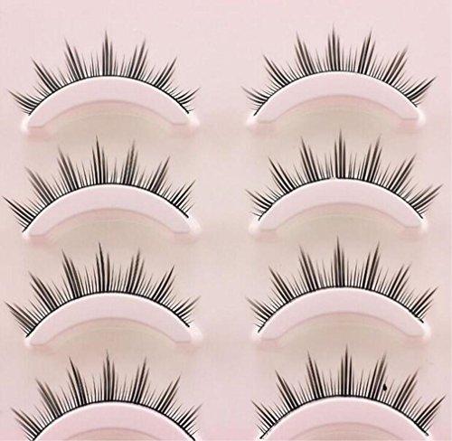 Preisvergleich Produktbild HappyBeauty 5 Paar Natürliche Falsche Wimpern Handgemachte Augenpeitsche Erweiterung für Cosplay