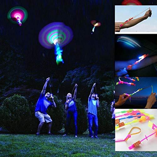 Jintes Kinder Spielzeug LED Licht Pfeil Rakete Hubschrauber Fliegen Spielzeug Party Fun Geschenk Elastic Fingerboards, Mini-BMX & Zubehör