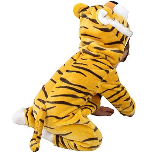 Baby Winter Jumpsuit Onesies Pyjamas - Kinder Niedliche Hoodie Strampler Unisex Baby Body Outfits (Tiger 80cm)