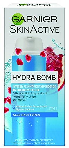 Garnier SkinActive Hydra Bomb 3in1 Tagespflege, intensiv feuchtigkeitsspendende und antioxidative Tagescreme, mit Lichtschutzfaktor 10, 50 ml -