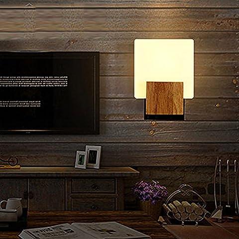 Village de style industriel américain rétro en bois la mode européenne metal wall lamp lampe murale Café antique nordique wall lamp loft moderne minimaliste creative corridor industriel wall lamp