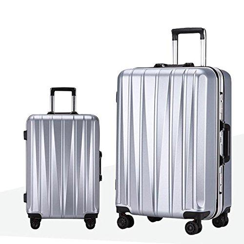 ABS + PC Aluminium Rahmen Aluminium Alu Stange Gepäck 360 ° Omnidirektional - Runde Passwort Reise Gepäck Tasche ( Farbe : 4 , größe : 24 inch ) 2