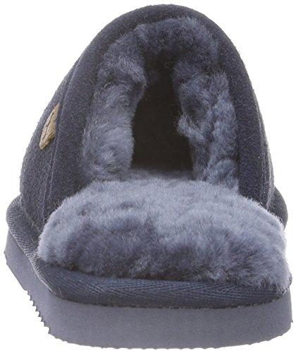Warmbat Classic, chaussons d'intérieur mixte enfant Bleu marine foncé