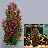 iDealhere 46cm Rhodo künstliche Aquarium Deko Pflanzen Wasserpflanzen Aquariumpflanzen