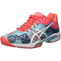 Asics Gel-Solution Speed 3 L.e. Paris, Zapatillas de Deporte Mujer, Multicolor (Diva Blue/White/Dive Pink), 39.5 EU