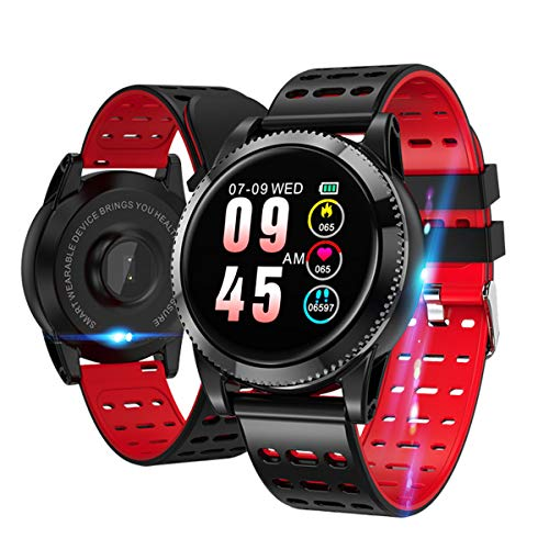 Smartwatch Fitness Armbanduhr mit Pulsmesser Fitness uhr IP68 wasserdicht Smart Watch Android iOS Blutdruck Schlafmonitor Aktivitätstracker Sportuhr Schrittzähler Stoppuhr Smartwatch für Herren Damen