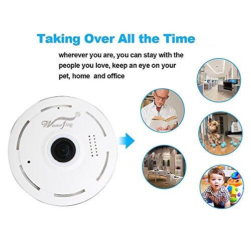 Mini IP Kamera 960P Panorama WiFi HD Zuhause Geschäft Sicherheit IP Videoaufnahme Nachtsicht - 4