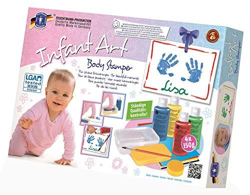 feuchtmann-spielwaren-6280821-infant-art-body-stamper-baby-malset-13-teilig