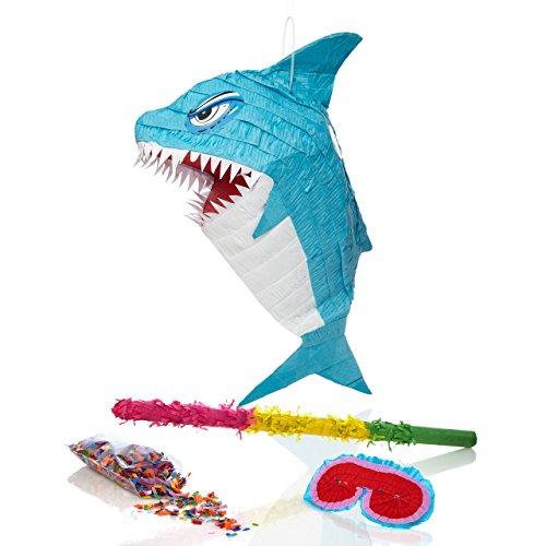 Lumaland-Set-de-piata-para-rellenar-palo-aprox-50-cm-careta-50-gr-de-confeti-Tiburon-azul-ca-38-x-19-x-65-cm