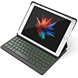 "Inateck Backlight Tastatur Keyboard Case Hülle mit Hintergrundbeleuchtung kampatibel 9,7"" iPad 2018 (6. Generation), iPad 2017 (5. Generation) und iPad Air 1, Drahtlos Bluetooth Tastatur in QWERTZ Layout"