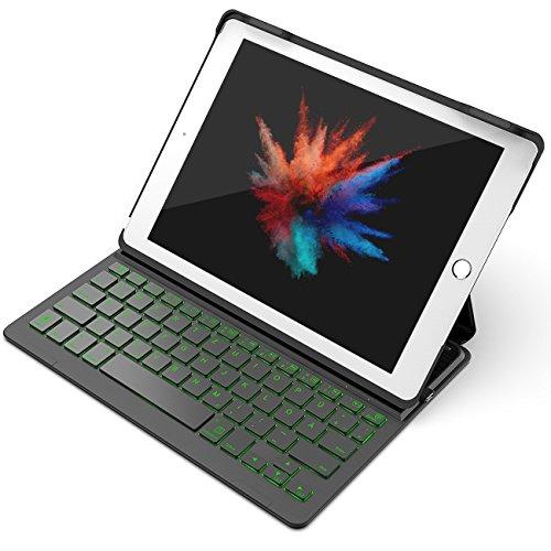 "Inateck Backlight Tastatur Keyboard Case Hülle mit Hintergrundbeleuchtung für 9,7"" iPad 2018 (6. Generation), iPad 2017 (5. Generation) und iPad Air 1, Drahtlos Bluetooth Tastatur mit 800 mAh Akku"