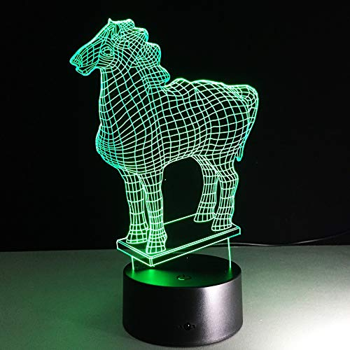 Pferdestatue Farbe kreative Lava Lampe Pferd Tischlampe bunten Nachtlicht Kinder Geschenk Schlaf Licht