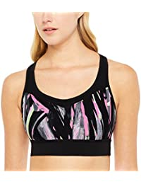 ecfffce63703c Calvin Klein Performance Women s Explosion Printed Medium-Support Racerback  Sports Bra