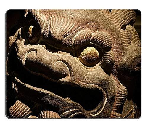 17P03744 Hochwertige Kreativität Mousepad Gaming Mouse Pad Der Isolierte chinesische Tempel Stein Carving Löwe