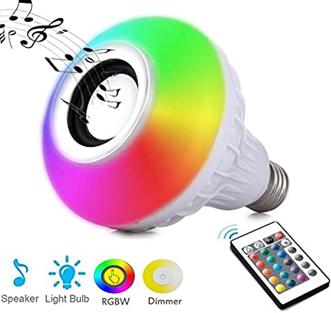 Autai Wireless Bluetooth Speaker LED Bulb Dimmable RGBW Colour Bulb