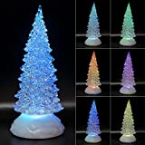 TRONJE Albero di Natale LED 22cm - Alberi di Natale Artificiali Timer USB Illuminato Decorazione Multicolore