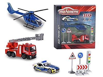 Majorette 212058585 - Theme Set SOS, Miniaturfahrzeug von Dickie Spielzeug