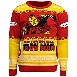 Official Invincible Iron Man Christmas Jumper/Ugly Sweater - UK 3XL / US 2XL