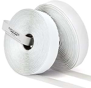10m klettband selbstklebend flausch haken 20mm breit wei k che haushalt. Black Bedroom Furniture Sets. Home Design Ideas