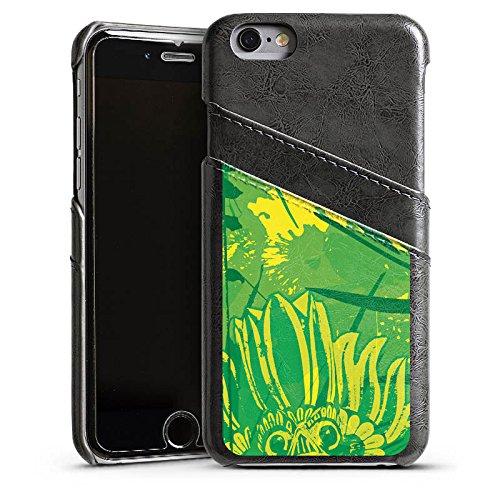 Apple iPhone 4 Housse Étui Silicone Coque Protection Vert Jungle Art Étui en cuir gris