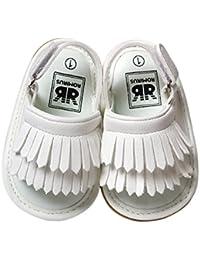 1541edabc3c0 FairOnly Baby Girls Tassel Soft Sole Non-Slip Sandals Leather Infant Girls  Summer Sandals for