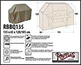 Raffles Covers RBBQ135 Schutzhülle für Gasgrillküche 135 x 65 H: 120/105 cm Wetterschutzhülle für Grill, Abdeckplane BBQ