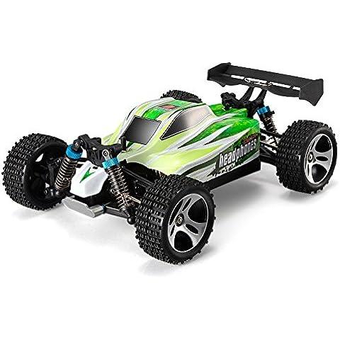 Coche Rc WLToys A959 V2 Buggy 1:18 | Tracción 4x4 | 70 km/h | 12 Minutos | RTR