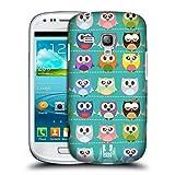 Head Case Designs Grünes Muster Kawaii Eule Ruckseite Hülle für Samsung Galaxy S3 III Mini