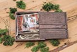 Wooden Box (ohne USB), Print & USB Flash Drive Box personalisieren Flash-Laufwerk Foto-Box Geschenk, Hochzeit Box Proof Box für Fotografie, Foto-Box (Dark Box Dark Raffia)