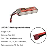 #6: zop power Sunrobotics Lipo Rechargable Battery Power Supply Best For RC Cars Helicopter Drones Diy Robotics Original 3S (2200Mah 11.1V 25/30C)