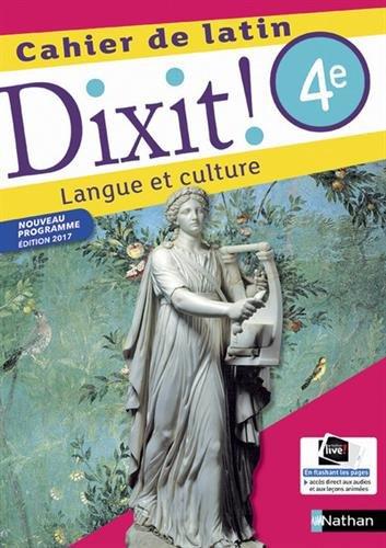Cahier de latin 4e Dixit ! : Langue et culture par From Nathan