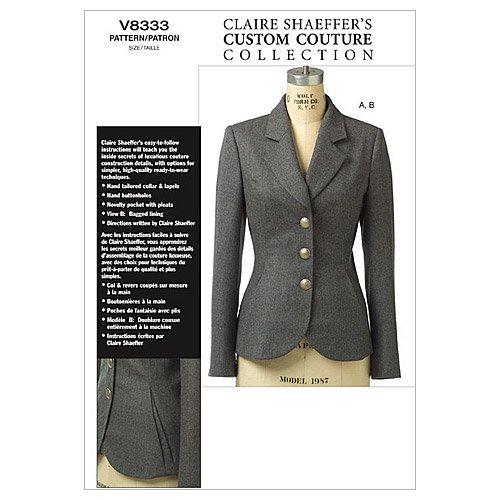 Vogue Patterns v8333 Taille FW 18–20–22 Patron de Petite veste
