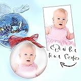 Palla di Natale decorazione addobbo personalizzata con foto stampata all'interno diametro palline 12 cm