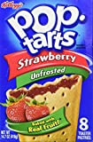 Kelloggs Pop Tarts Strawberry unfrosted 416g