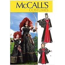 McCall's Patterns M6817 - Patrón con instrucciones para disfraces de niña y mujer (tallas de S a XL), color blanco