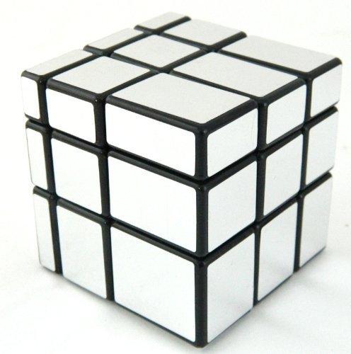 Xiton Spiegel Blocks Shiny Silver Black Frame Magic Cube Puzzle Gehirn Teaser- MC333