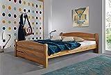 SAM® Holzbett Thorsten Massivholz 140 x 200 cm geölte Wildeiche