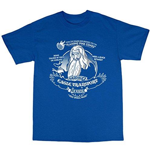 Gandalf's Eagle Transport T-Shirt 100% Baumwolle Königsblau